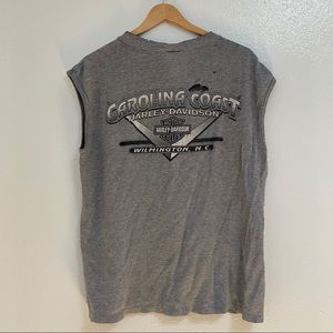 Harley Davidson North Carolina Grey Torn T-Shirt